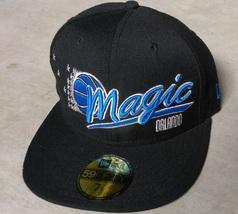 New Era 59Fifty NBA Orlando Magic Black Blue Basketball Hat Cap Size 7 1/8 - $15.00