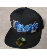New Era 59Fifty NBA Orlando Magic Black Blue Basketball Hat Cap Size 7 1/8 - £16.05 GBP