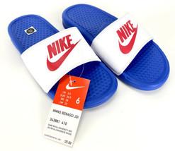 Nike Benassi JDI Game Royal/Red Women's Slides Sandals - Size 6 - $24.75