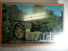"""RARE 1994 F.X.Schmid """"The Old Mill"""" 1000 Piece Puzzle Sealed 26.5"""" by 17.25"""" - $39.59"""