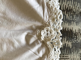 Vintage Pillowcases, Set of Two, Hand Crochet Edged, Pale Pink, Shabby Chic - $13.00