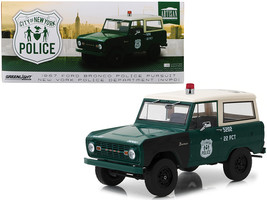 1967 Ford Bronco Police Pursuit New York City Police Department (NYPD) Green wit - $88.42