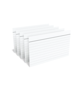"""NEW TRU RED 3"""" x 5"""" Index Cards Legal Ruled White 100/Pack (Lot of 5- 50... - $11.30"""