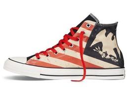 Converse Patriotic Distressed Flag Totem Eagle HI TOP Lined Unisex Shoes... - $74.99
