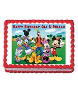 MICKEY MOUSE CLUBHOUSE party edible cake topper decoration frosting sheet - $7.80