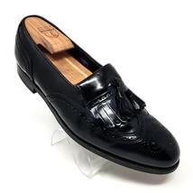 Florsheim Black Leather Tassel Kilt Brogue Wingtip Slip On Oxfords Shoes Mens 9M - $52.05