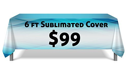 Table Cover Guys - 6ftCover - Fully Custom Table Throw, Any Color, Any Design