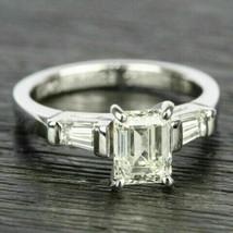 2.65Ct Emerald Cut White Diamond 925 Sterling Silver Designer Engagement... - $110.00