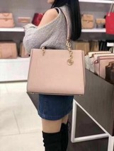 NWT Michael Kors Sofia Large Chain Tote Shoulder Bag Leather Ballet - $201.13
