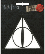 Harry Potter The Deathly Hallows Logo Embroidered Patch NEW UNUSED ATB - $7.84