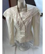 Vtg  Gunne Sax Blouse Ivory  Lace shirt top Sz 3 Polyester Cotton - $64.34