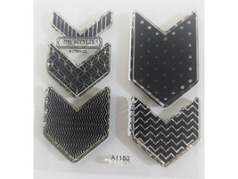 Close to My Heart Charming Chevrons Flair Clear Acrylic Stamp Set #A1150 image 2
