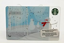 Starbucks Coffee 2011 Gift Card Snowman Winter Snow Trees White Zero Bal... - $15.03