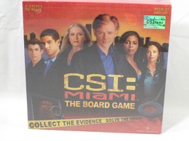 NIB New Sealed CSI Miami Board Game - Collect Evidence Solve 8 Different... - $11.53