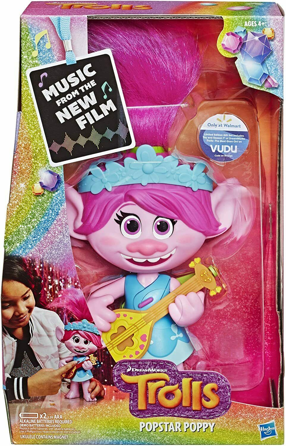 Primary image for Popstar Poppy Singing Doll with Ukulele