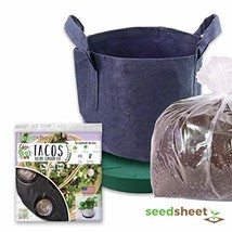 Seedsheet, Grow Your Own Tacos Container Garden, Organic Seed Pods, Cila... - $55.49