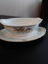 Vintage Gravy Boat Attached Plate Noritake China Made In Japan #5286 Alice Patte image 3