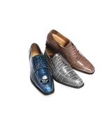 LIBERTYZENO Men's Ankle High Top Boots Side Zipper Crocodile Print Lace ... - $54.99