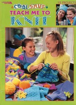 Teach Me To Knit Beginners 12 Projects Tassel Hat Leg Warmers Lap Wrap Book - $13.99