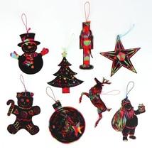 24pcs Magic Color Scratch Card Christmas Tree Ornaments Scratch Art Paper  - $6.00