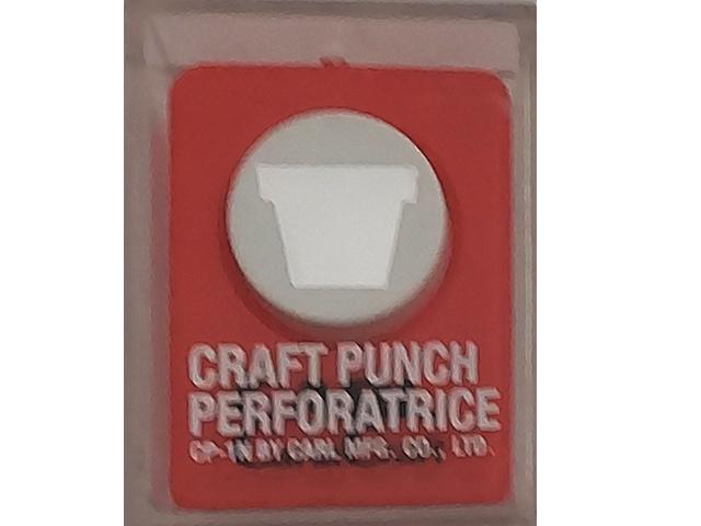Carl Carla Craft Punch, Flower Pot #CP-1N