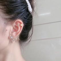 NEW AUTH Christian Dior 2019 J'ADIOR EARRINGS GOLD STAR CRYSTAL DANGLE image 8