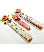 Rose confetti clips 3pcb thumbtall