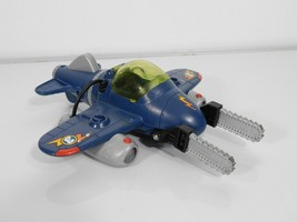 Fisher Price Imaginext Sky Racers Twister Jet Plane Dual Chain Saws and ... - $8.81