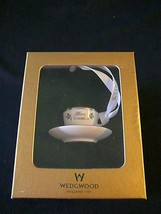 Wedgwood Sterling Silver Cup & Saucer Christmas Ornament In Original Box - $37.39
