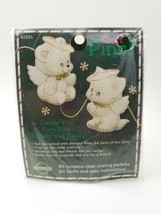 Cat & Bear Angel PIN SET #61521 Pin and Earring Craft 1995 Create Your Own. - $6.97