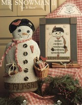 Mr. Snowman II Let It Snow Homespun Elegance #145 Cross Stitch PATTERN Leaflet - $7.17