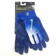 Nike Huarache Elite Baseball Batting Gloves Adult Xxl Blue GB0448 410 Nwt - $49.94