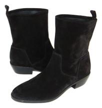 VIA SPIGA Bootie Black Suede Soft Shaft women 8.5 New - $57.83