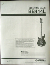 Yamaha BB414L Left Handed Bass Guitar Service Manual and Parts List Booklet - $9.89