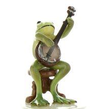 Hagen Renaker Miniature Frog Froggy Mountain Breakdown Banjo Ceramic Figurine image 6