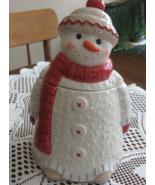 VTG Hallmark Snowman Candy Dish/Cookie Jar-Ceramic-Never Used-China - $15.00