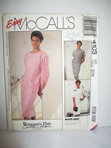 McCall's Pattern 4103 Miss Sz 12/14 Pullover Dress Sleeve Variations Unc... - $7.91