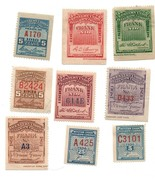 9 Western Union Telegraph Revenue Stamps / 1891 to 1936 - $45.00