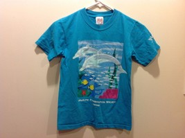 Anvil Wildlife Conservation Society Member Aqua Blue Kids Graphic Tee Sz M