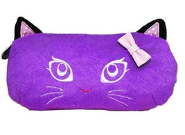 Plush Pen Bag Soft Plush Cosmetic Makeup Pouch - Purple - $17.52
