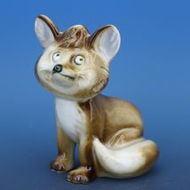 Vintage Zsolnay Hungary Hand Painted Brown Fox Porcelain Figurine image 5