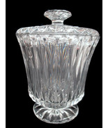Block Heritage Masters Collection Biscuit Jar Barrel Mouth Blown Crystal... - $57.42