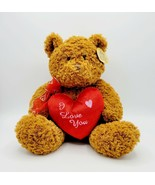 """NWT Anico Collectible Plush Toy 11"""" Soft Brown I Love You Teddy Bear - £10.17 GBP"""