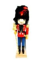 """Nutcracker Village Christmas Wooden Toy Soldier Fur Hat 12"""" - $37.11"""