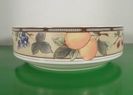 Mikasa GARDEN HARVEST Round Vegetable Dish Serving Bowl Intaglio Fruit - $22.72