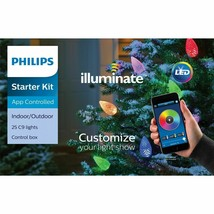 Philips Illuminate 25 C9 Faceted Lights Starter Kit App Controlled LED NEW - $98.99