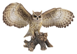 Pacific Giftware Realist Look Opening Eagle Owl Resin Figurine Statue - $128.69