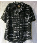 women's Harley Davidson  button up shirt short sleeve size large - $28.50