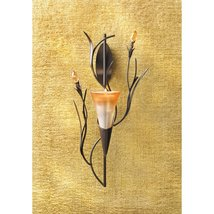Wall Sconce Candle Holder, Modern Glass Flower Holder Wall Sconce Candles Holder image 2