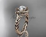 wedding ring  rope ring  diamond engagement ring  forever brilliant moissanite  1 thumb155 crop